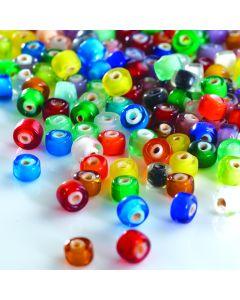 White Heart Beads