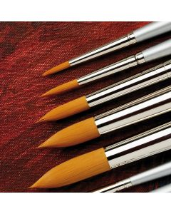 Specialist Crafts Premium Long Handled Synthetic Round Brushes