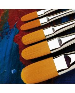 Specialist Crafts Premium Short Handled Synthetic Filbert Brushes