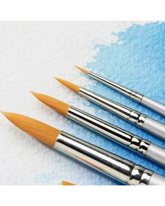 Specialist Crafts Premium Short Handled Synthetic Watercolour Round Brushes