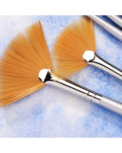 Specialist Crafts Premium Short Handled Synthetic Fan Brushes