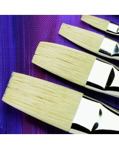 Specialist Crafts Premium Long Handled Hog Flat Brushes