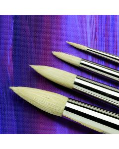 Specialist Crafts Premium Long Handled Hog Round Brushes