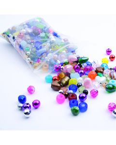 Plastic Beads 200g Assorted Colours