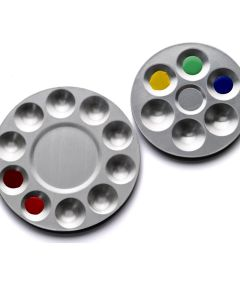 Round Aluminium Ten Well Palette