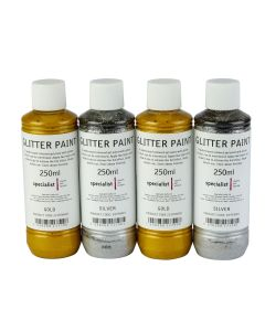 Specialist Crafts Glitter Paint - Metallics Set