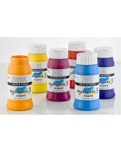 System 3 Original Acrylic Colours 500ml Set 2. Set of 6