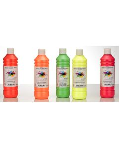Specialist Crafts Premium Readymixed 500ml Fluorescent Set