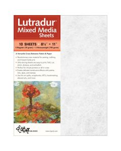 Lutradur Mixed Media Sheets US Letter. Pack of 10