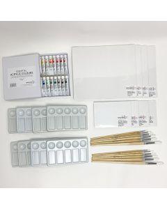 Standard Acrylic Painting Kit (8 People)