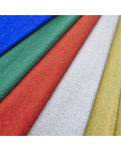 Aluminium Crepe Paper Assortment. Pack of 5