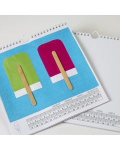 Personalise a Calender White 230 x 250mm. Each