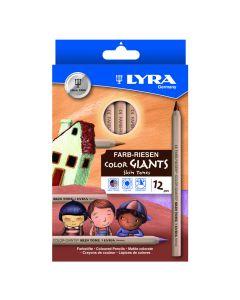 Lyra Skin Tones Pencils. Pack of 12