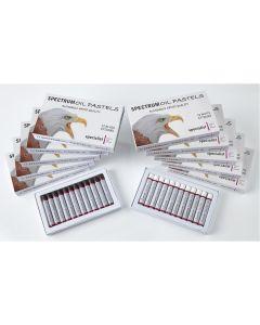 Spectrum Oil Pastels Black and White Bulk Pack. Pack of 144