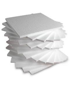 Polystyrene Tiles - 300 x 300 x 10mm. Pack of 20
