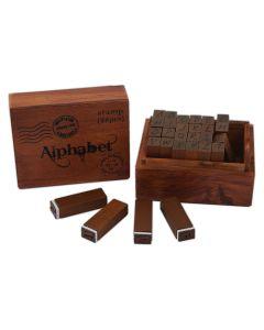 Wooden Alphabet Stamps Set