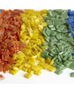 10mm Glass Mosaics Assorted Brights
