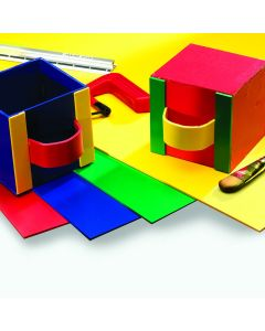 PVC Foam - 1220 x 610 x 3mm - Assorted Colours. Pack of 5.