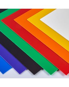 Coloured High Impact Polystyrene Sheets - 457 x 254 x 1mm - Assorted Pack of 80