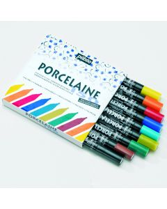 Pebeo Porcelaine 150 - Marker Pens Assortment. Pack of 9.