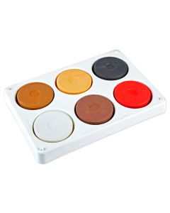 Specialist Crafts Tempera Blocks Size 2 - Skin Tones Palette